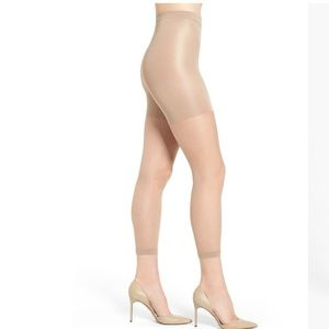 Spanx Power Capri Control Top Footless Pantyhose